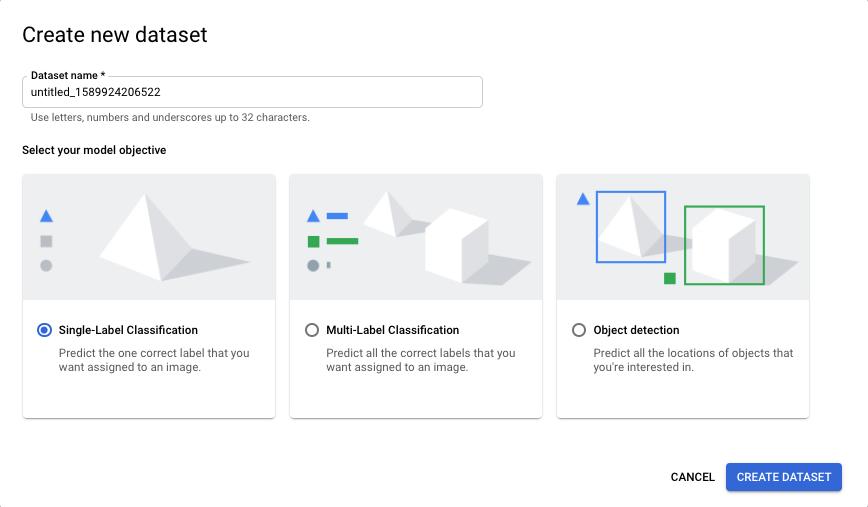 New dataset name field