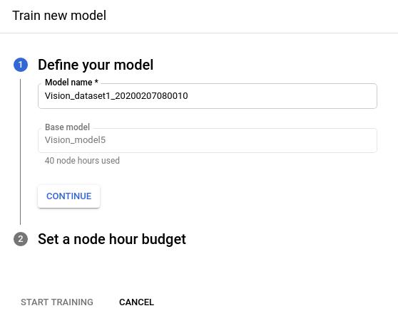 Ventana lateral para definir tu modelo