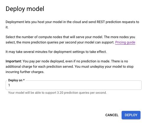 Screenshot: Knotenstunden für die Bereitstellung auswählen