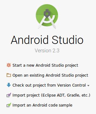 Android 스튜디오 프로젝트 열기 팝업