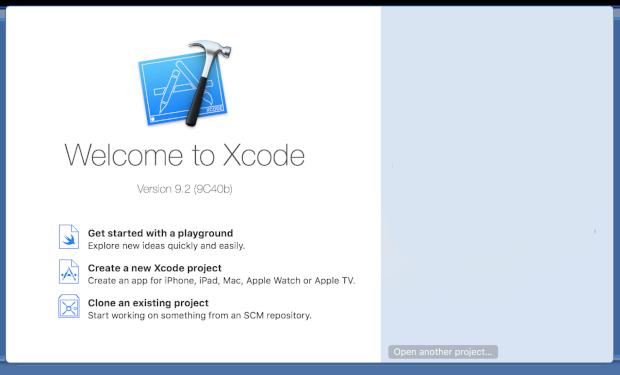 Xcode-Benutzeroberfläche