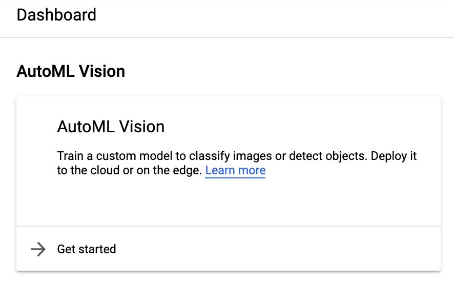 Tableau de bord intégré de l'interface utilisateur Vision