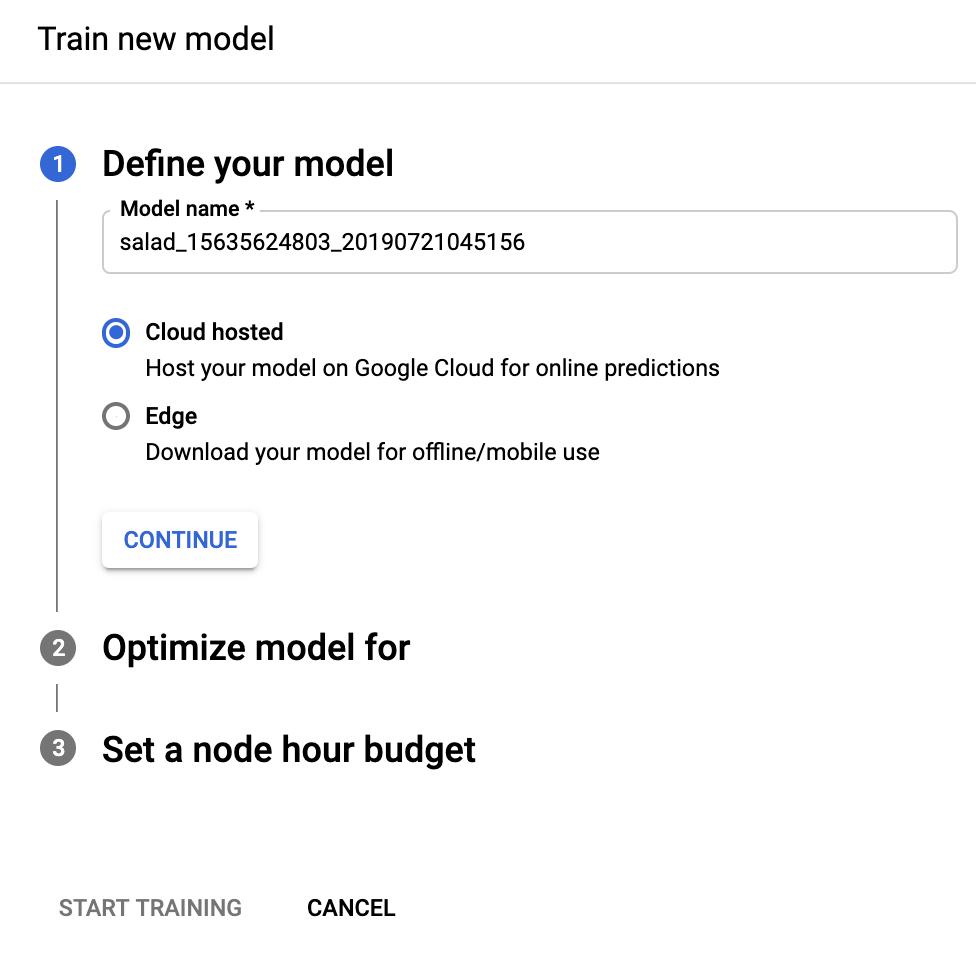 Train Cloud model radio button image