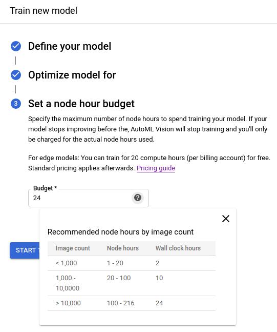 Edge model creation via the UI quickstart | Cloud AutoML