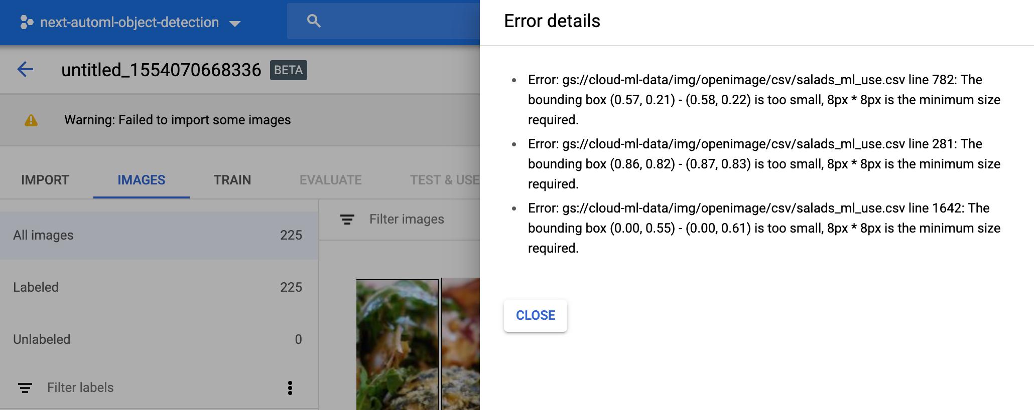 Import error image