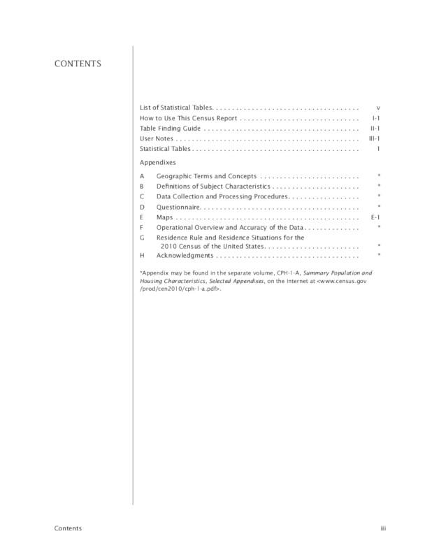 Page du PDF sur le recensement américain de 2010