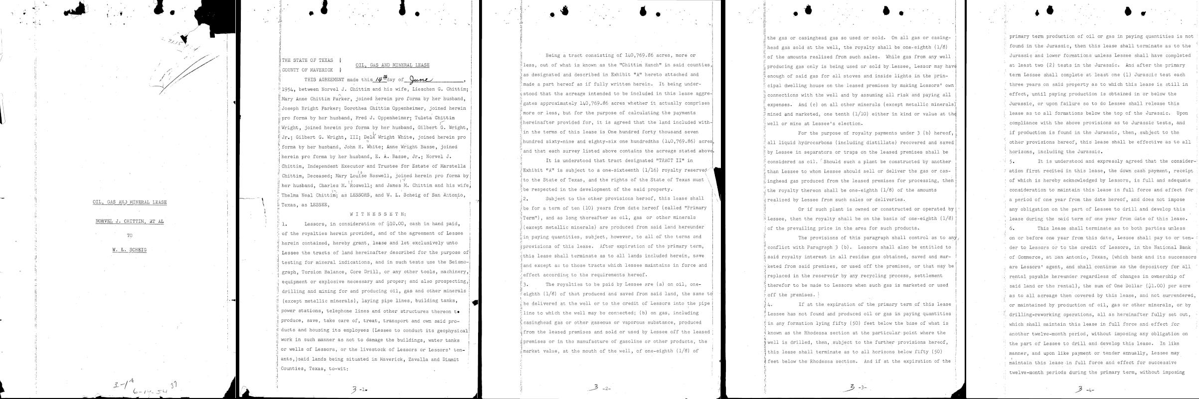 Las primeras cinco páginas de un archivo PDF