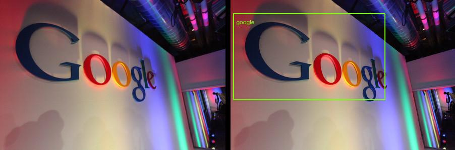 Logotipo do Google com anotação