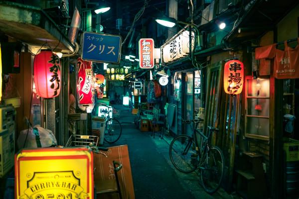 Imagen de calle de barrio en Setagaya