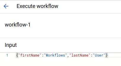 Eingabebereich mit JSON-Beispielstring