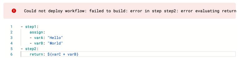 Error en la implementación