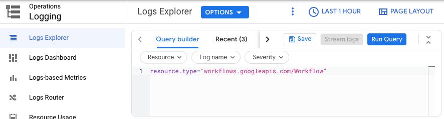 Workflow logging